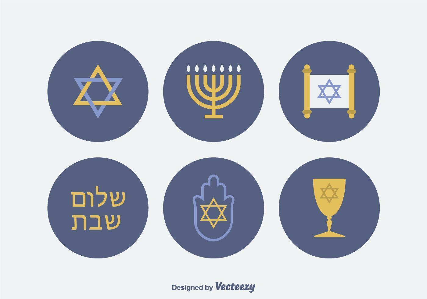 Gratis Joodse Vector Icons