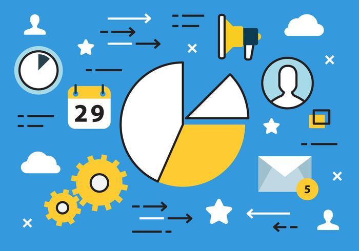 Gratis Digital Marketing Vector Illustration
