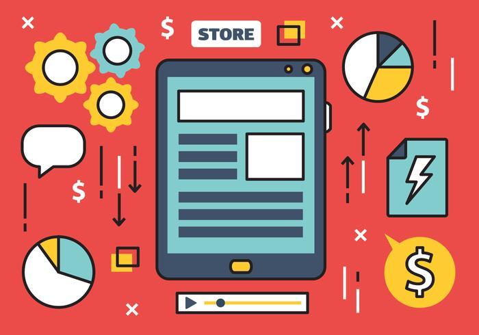 Gratis Online Marketing Vector Illustration