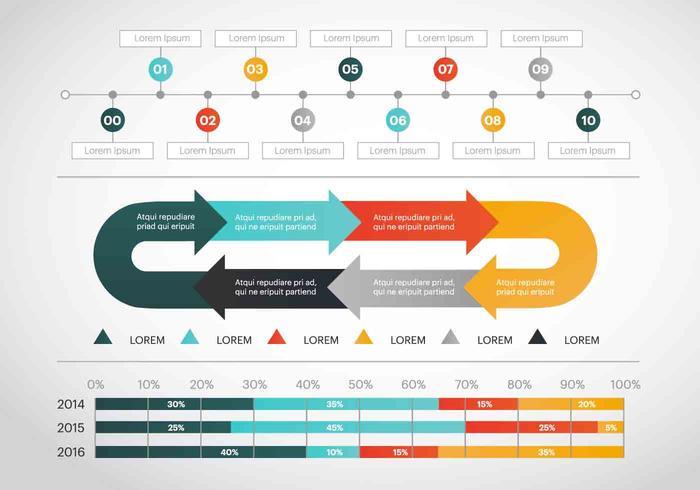 Gratis Infographic Vector Elementen