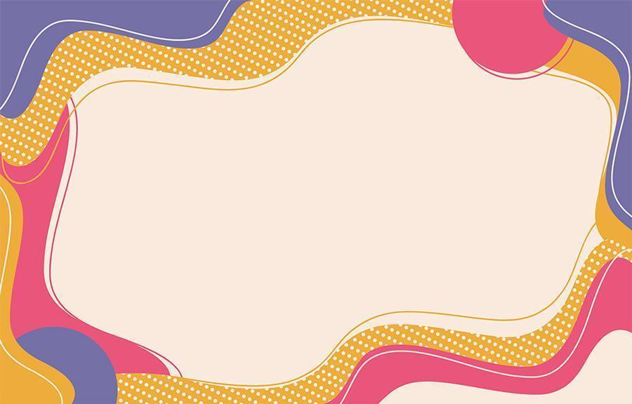 abstracte platte achtergrond met vloeiende vormen vector