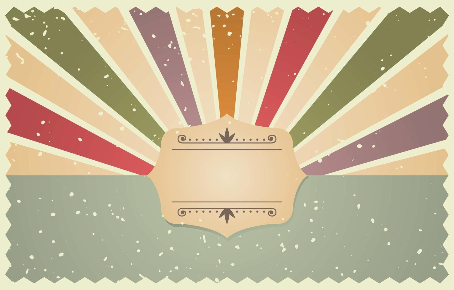 kleurrijke vintage geïnspireerde achtergrond vector