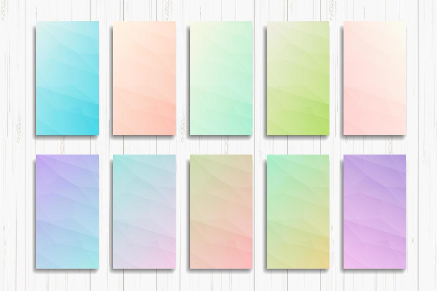 set van heldere kleurovergang abstracte banners vector