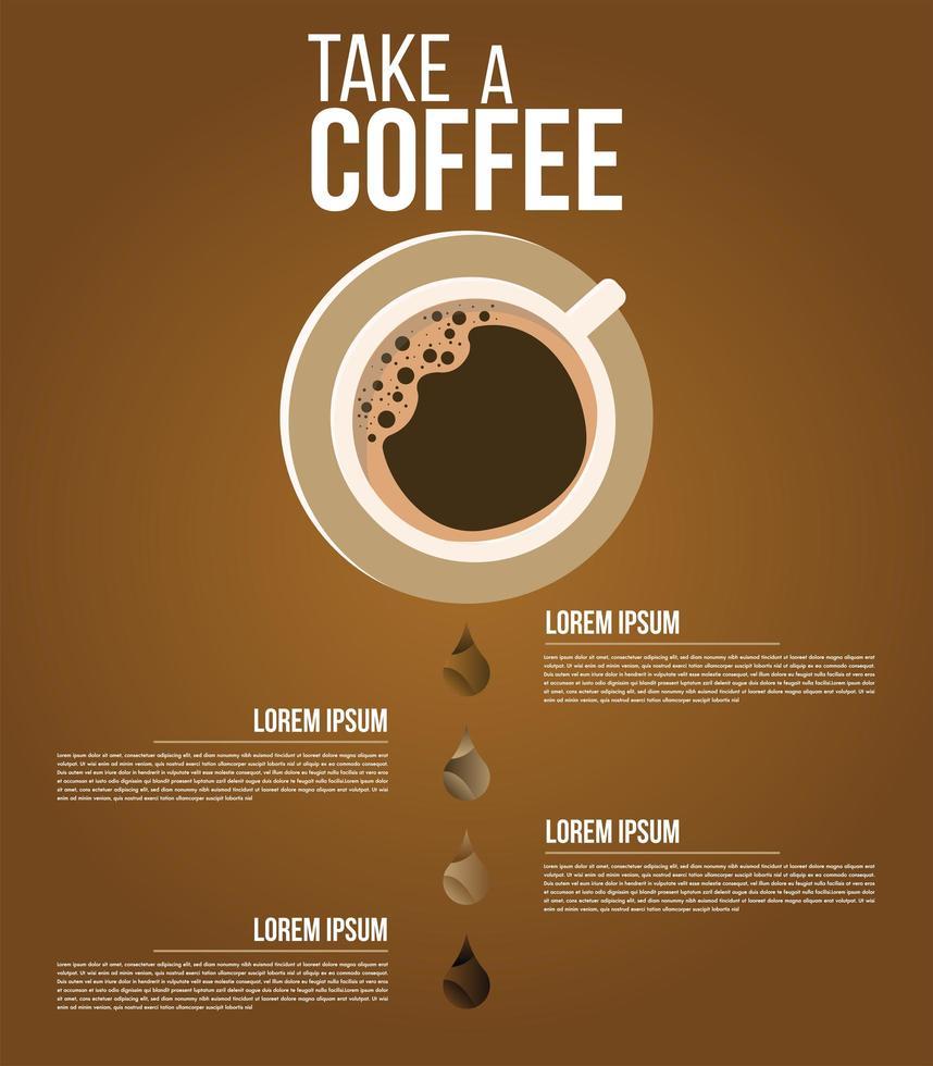 minimaal koffie infographic menu of posterontwerp vector
