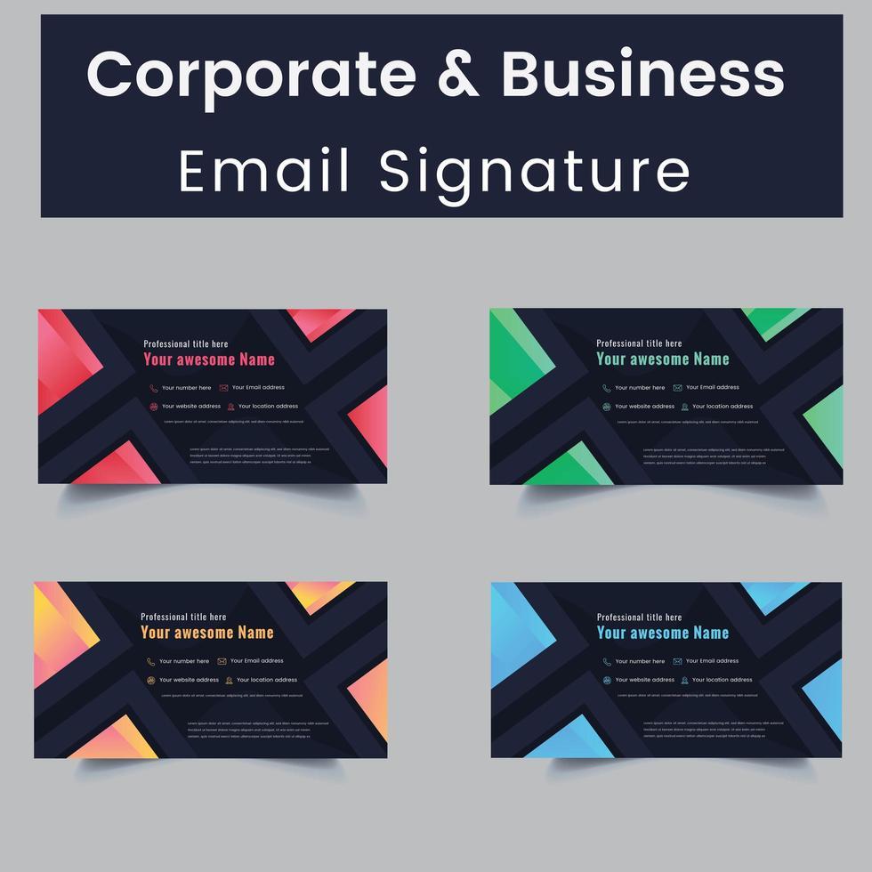 sjablonen voor persoonlijke en zakelijke e-mailhandtekeningen vector