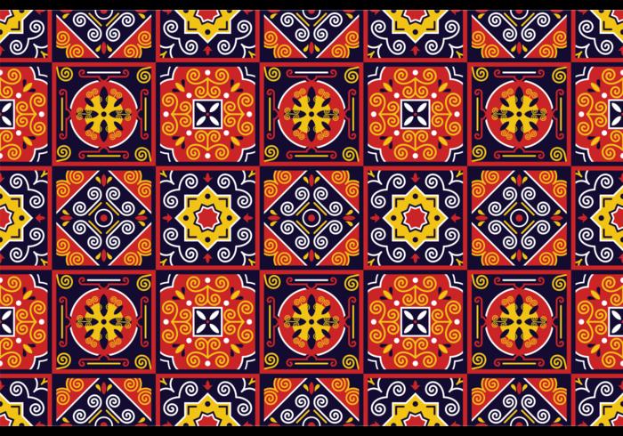 Vector Traditionele Azulejos Pattern
