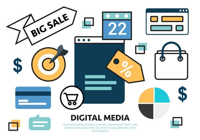 Gratis Flat Sale Marketing Concept Vector