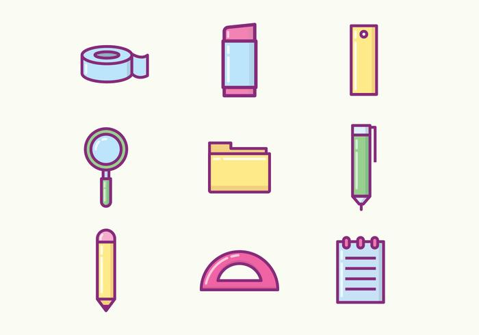 Gratis Stationery Icons vector
