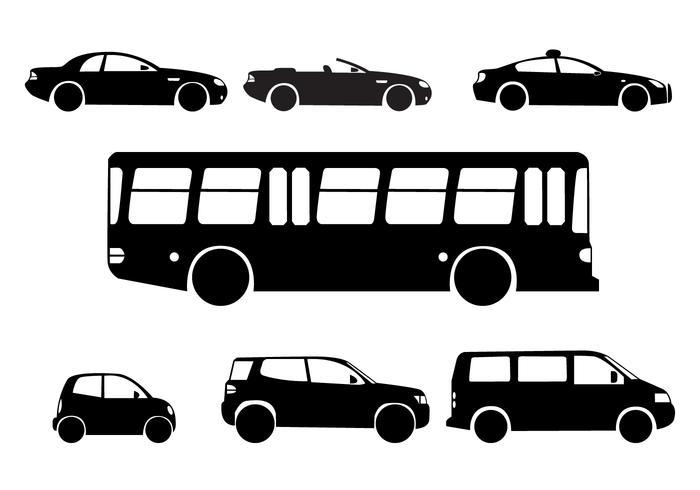 Het silhouet van City Cars vector