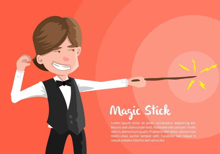 Magician Illustratie vector