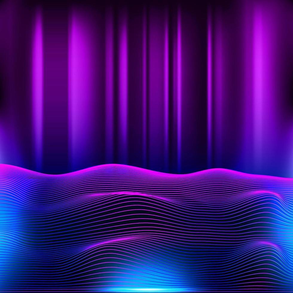 retro futuristische neon retro achtergrond vector