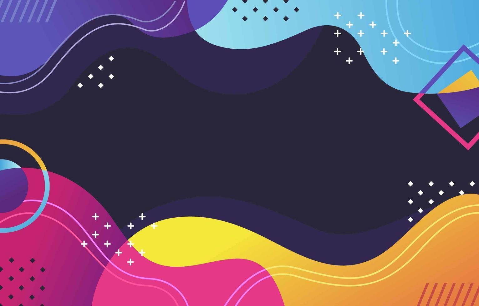 kleurrijke abstracte golf achtergrond vector