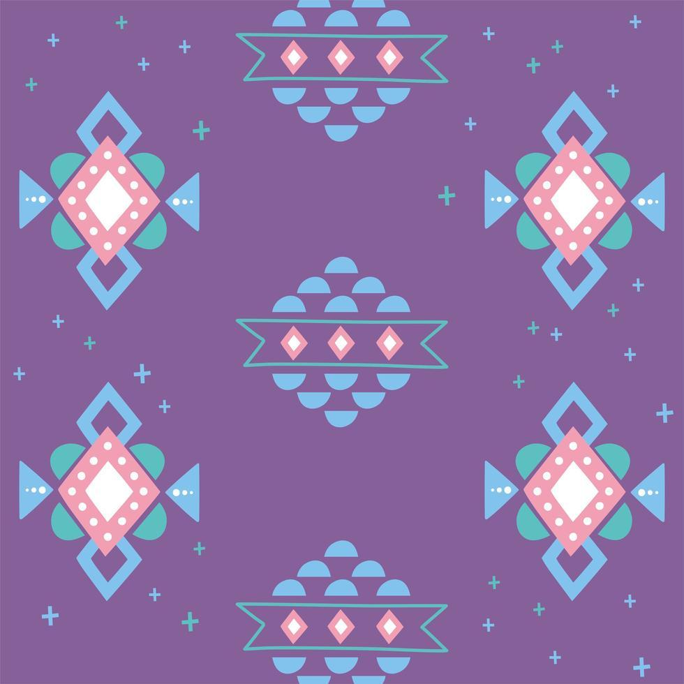 etnische handgemaakt. ornament arabesque paarse achtergrond vector
