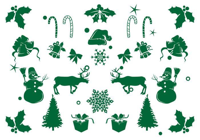 Icon Set Element Kerstmis vector