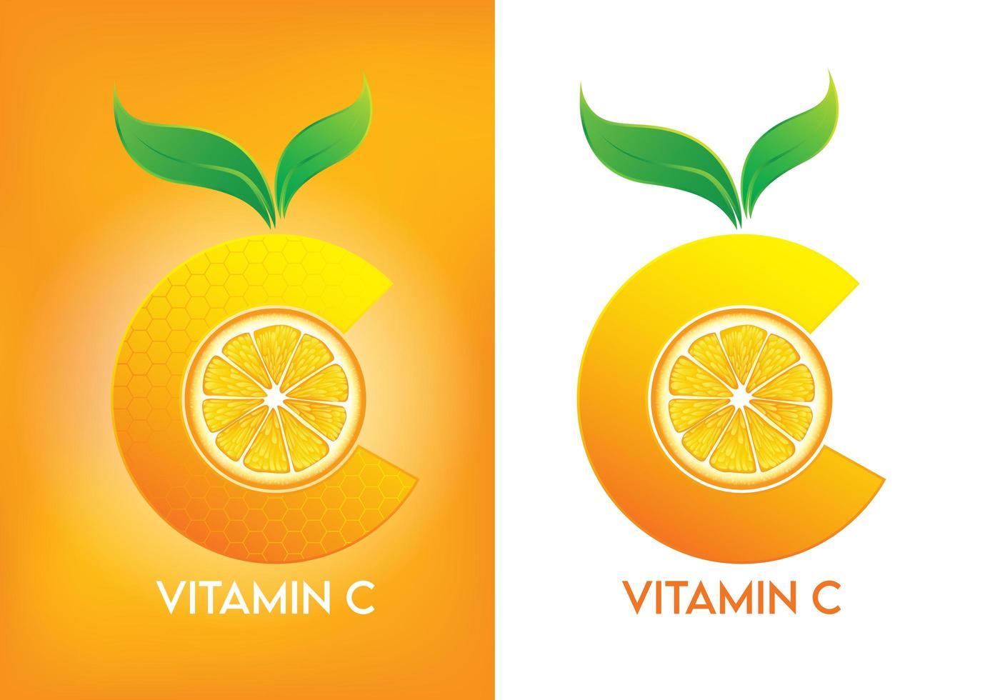 vitamine c-pictogram voor reclamemateriaal vector