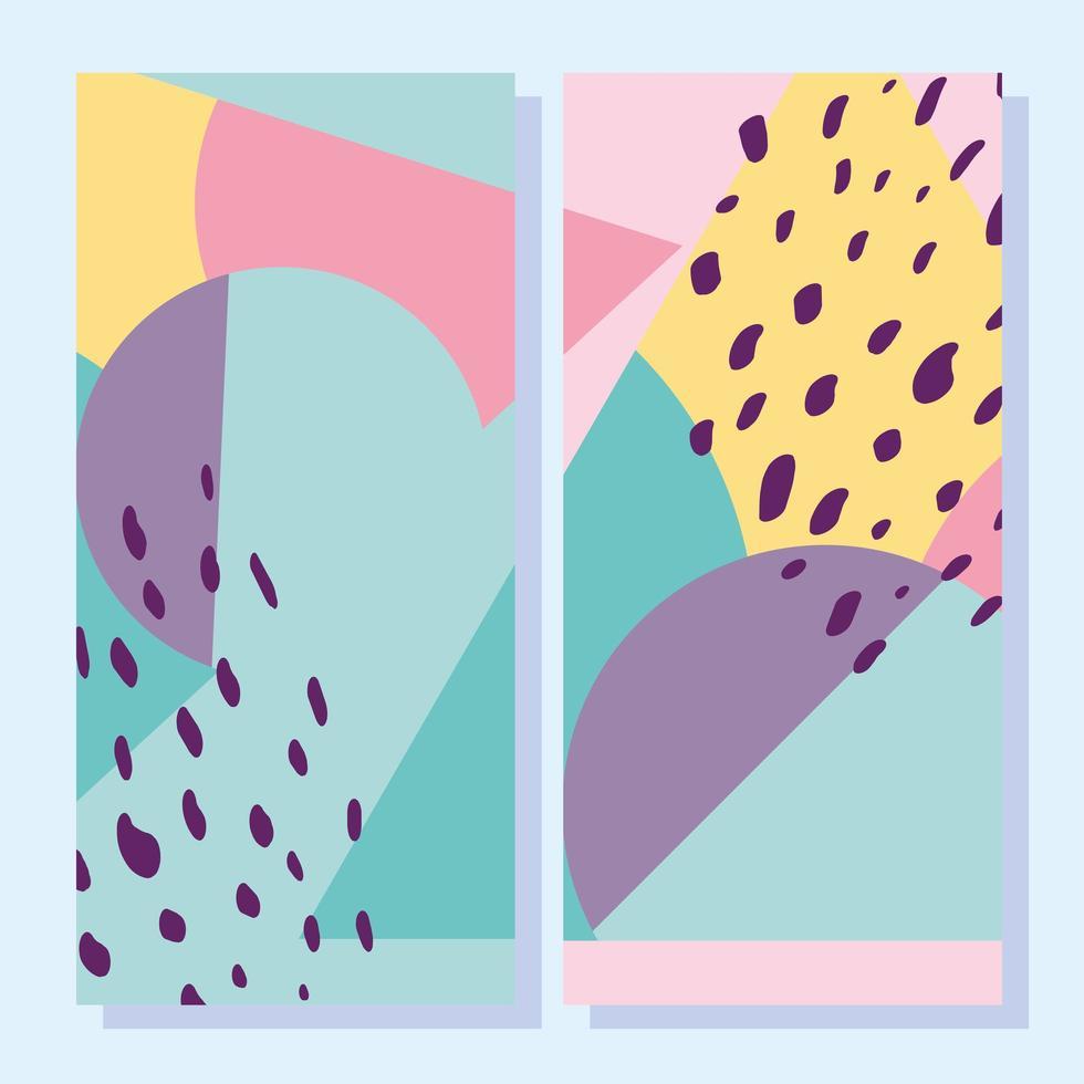abstracte creatieve vormen. Omslagen in geometrische stijl uit de jaren 80 vector