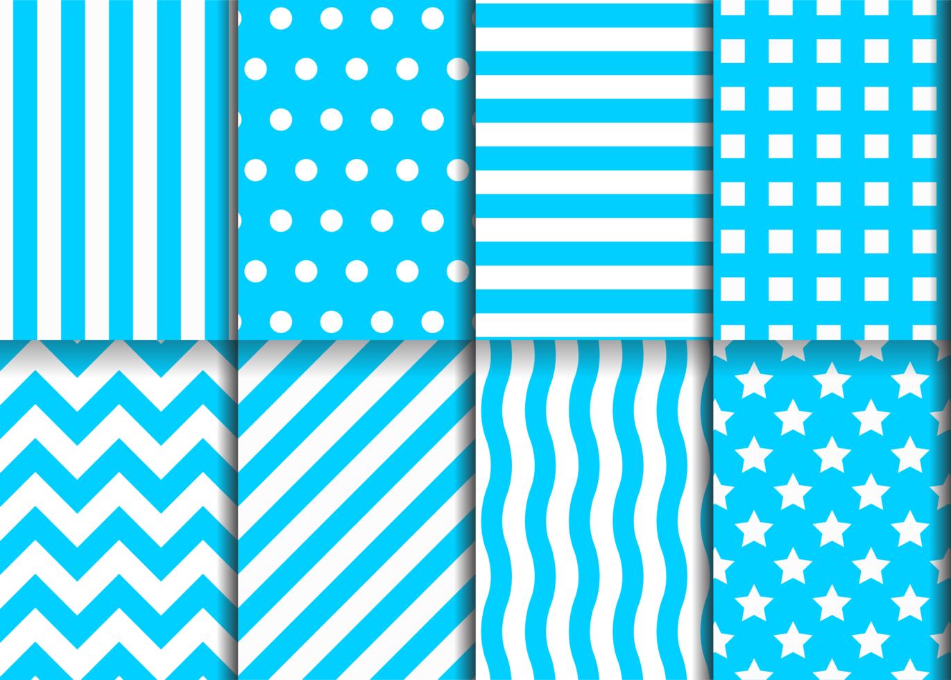 blauwe geometrische patroon set vector
