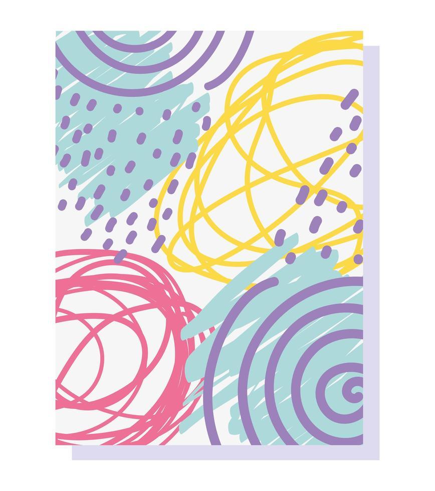 memphis abstracte kunstkleur. Geometrische vormen uit de jaren 80 vector