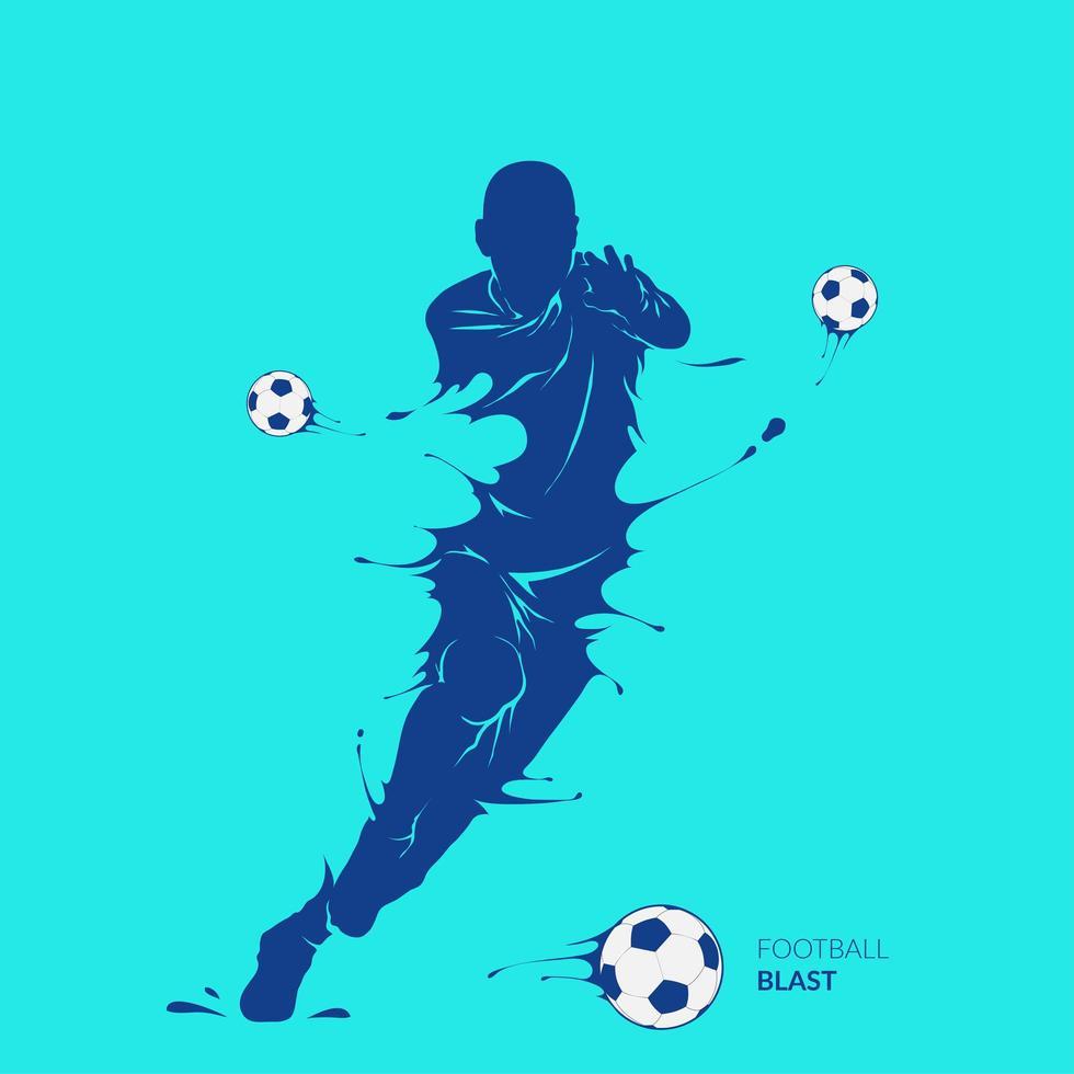 silhouet voetbal voetballer ontwerp vector