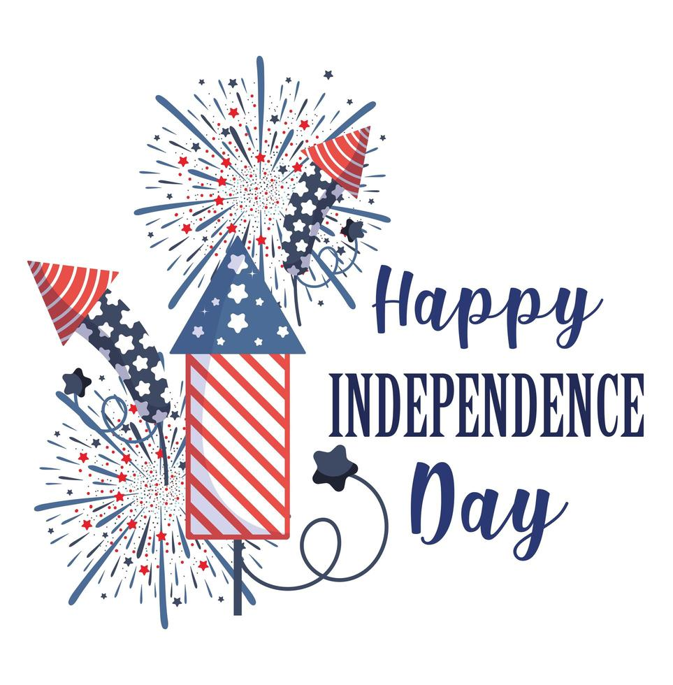 onafhankelijkheidsdag vuurwerk vector ontwerp