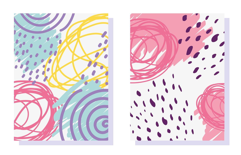 geometrisch memphis-ontwerp. minimale abstracte omslagen vector
