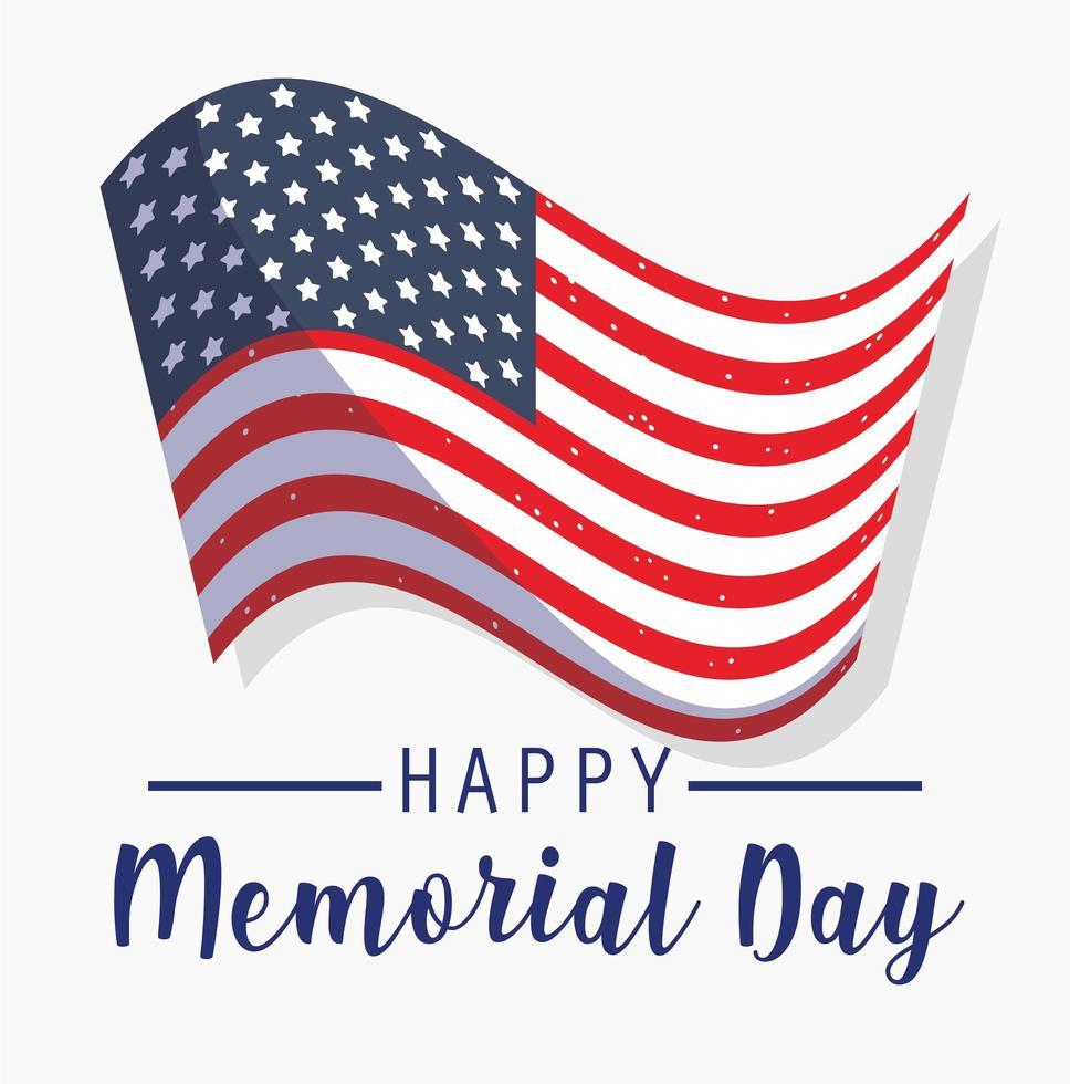 herdenkingsdag vakantie en patriottisch thema vector