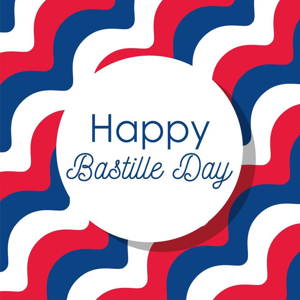 gestreepte achtergrond van gelukkige bastille-dag vector