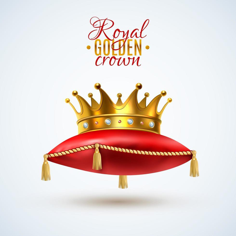 koninklijke kroon rode kussens vector