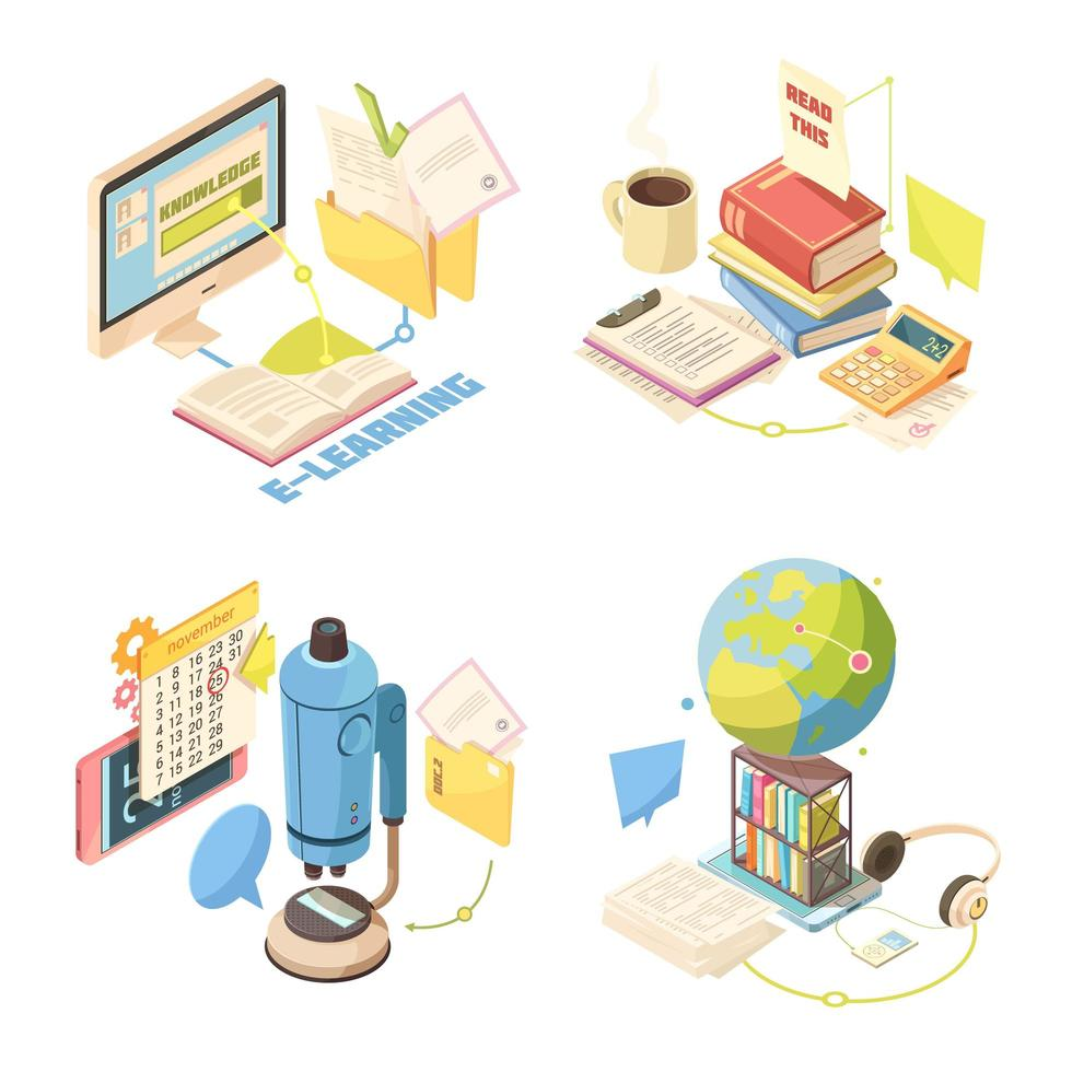 e-learning decorontwerp vector