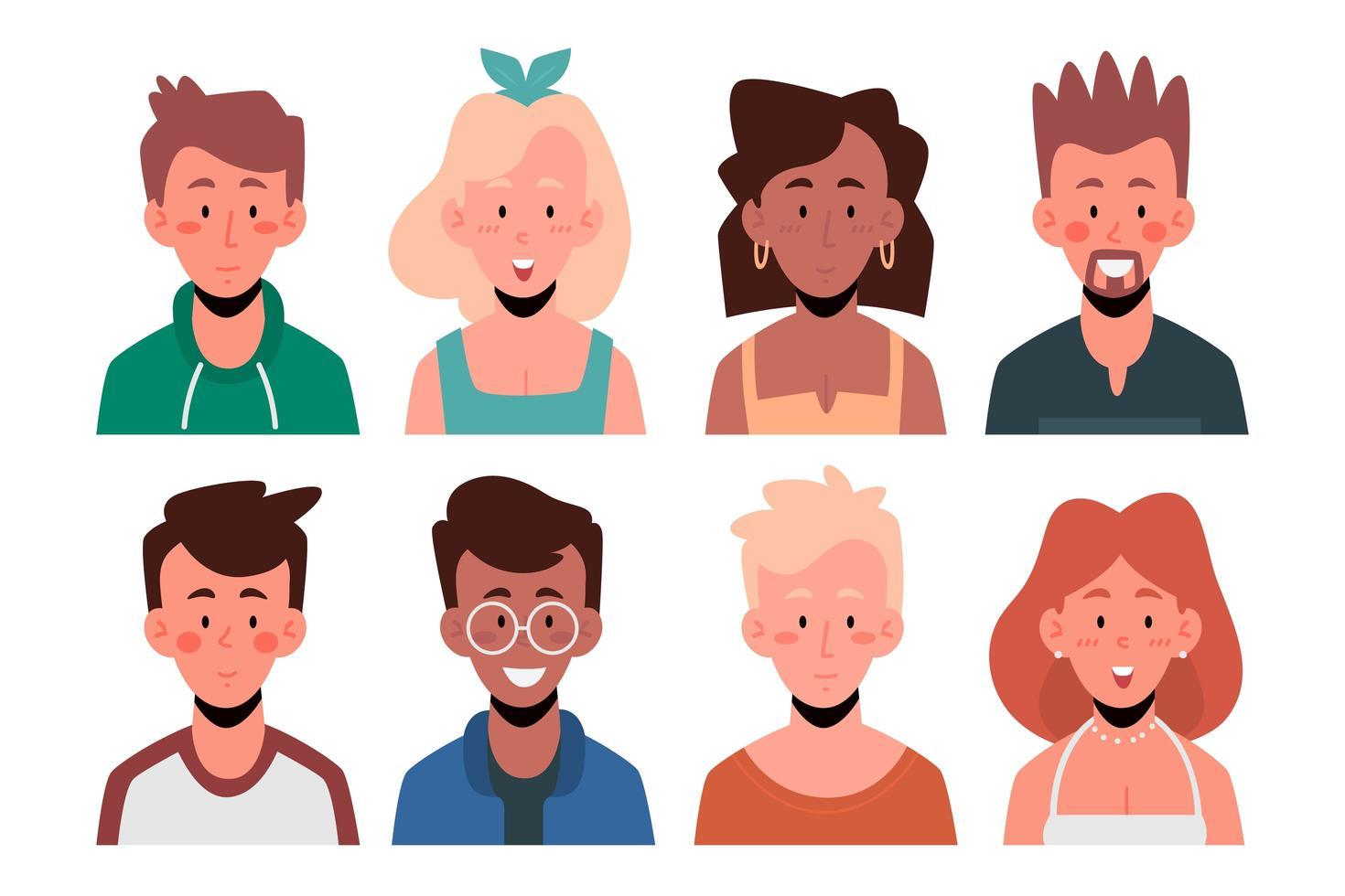 mensen avatar collectie vector