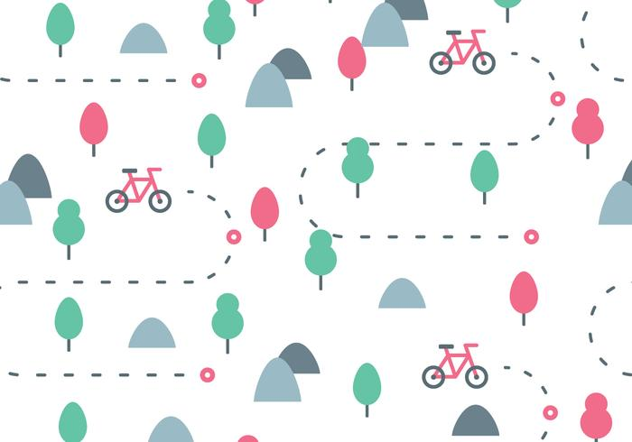 Bike Trail Pattern vector
