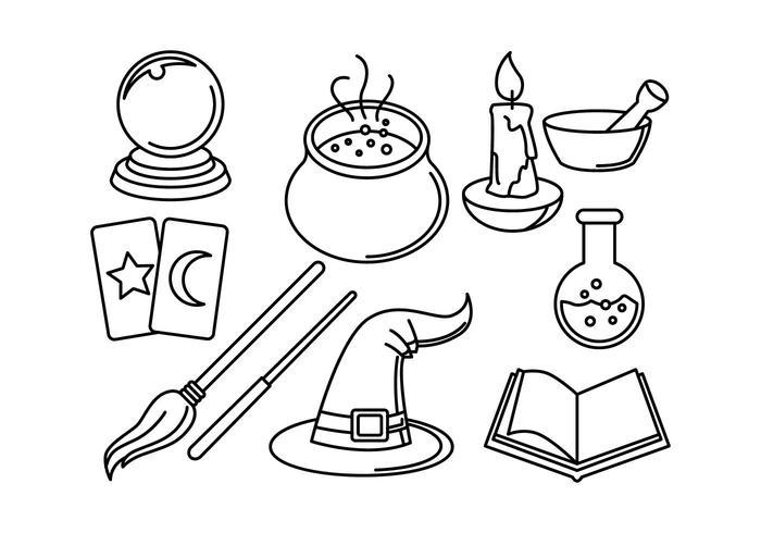 Gratis Wizards Linear Icon Vectors