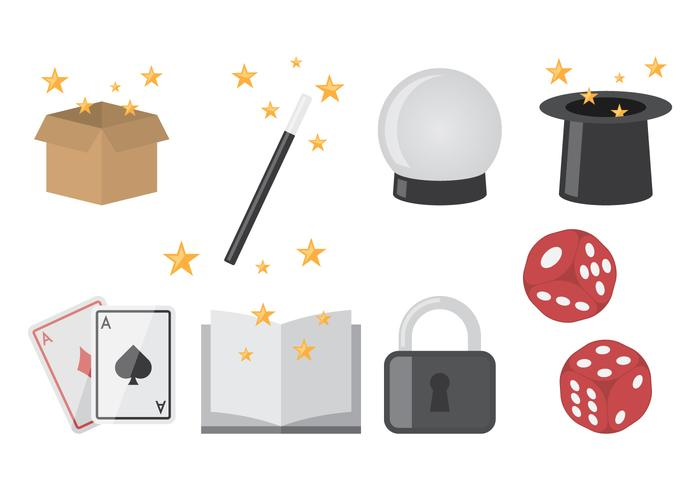 Magician Flat Icons vector