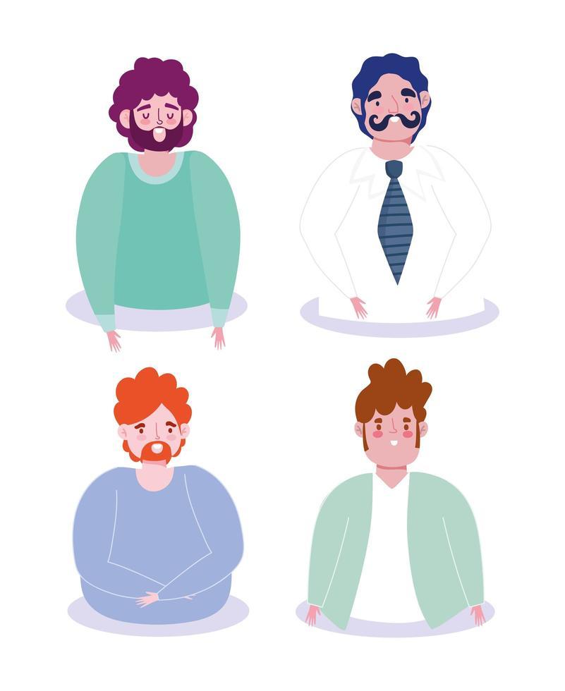 mannen avatars tekenfilm verzameling vector