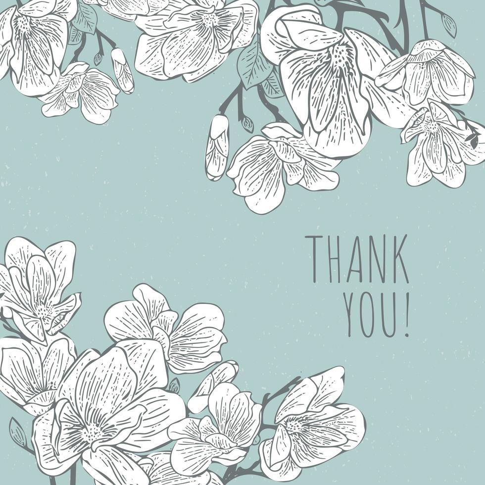 magnolia bloemenpatroon vector