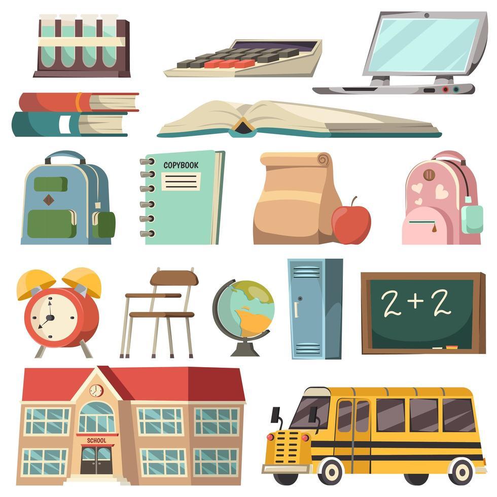 school pictogramserie vector