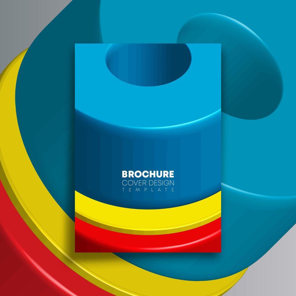 kleurrijk geometrisch vormenontwerp voor flyer, poster, brochure vector