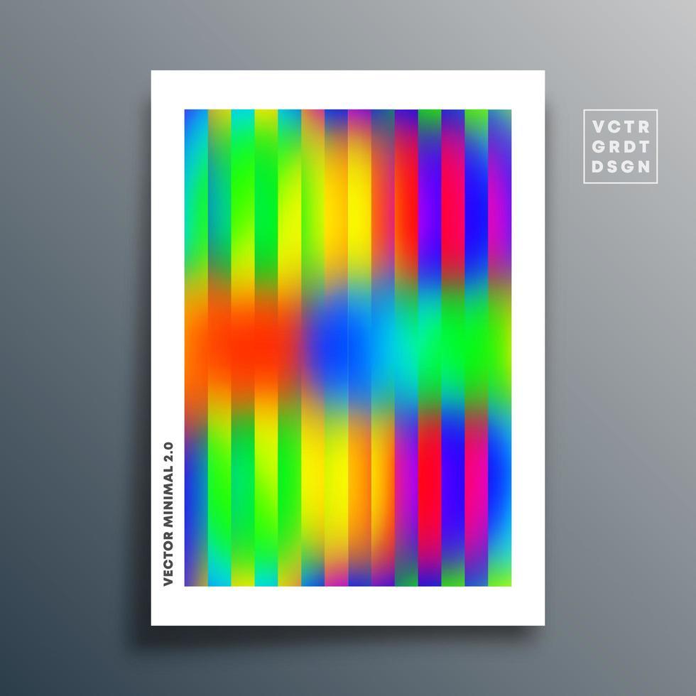 gradiënttextuursjabloon met lineair ontwerp op wit vector