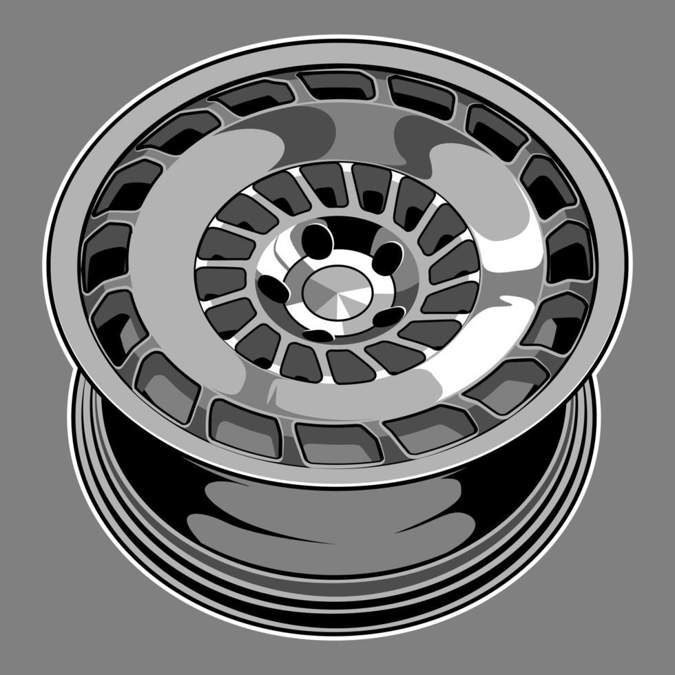 auto wiel tekening vector