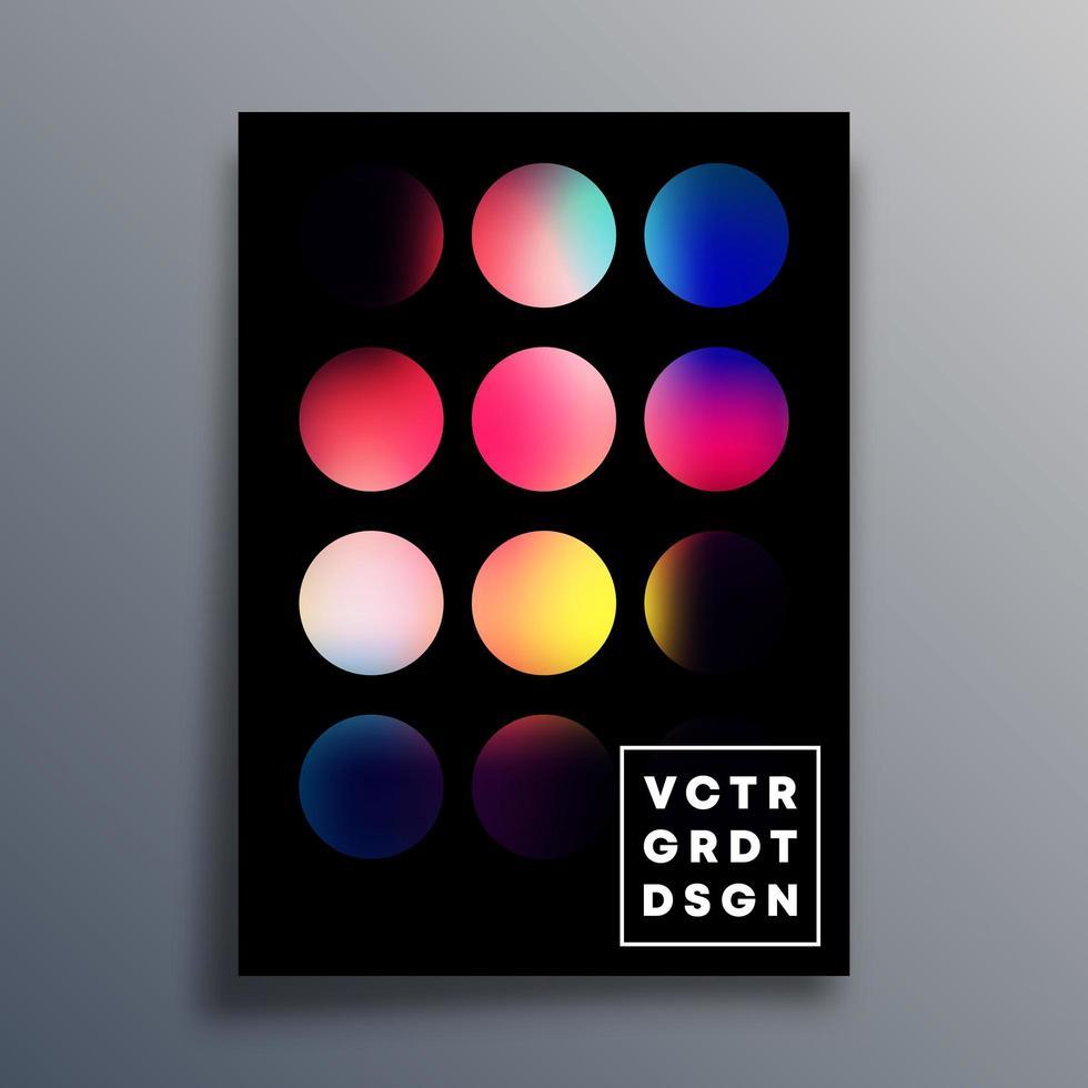 kleurrijke gradiëntcirkelomslag, flyer, brochure vector