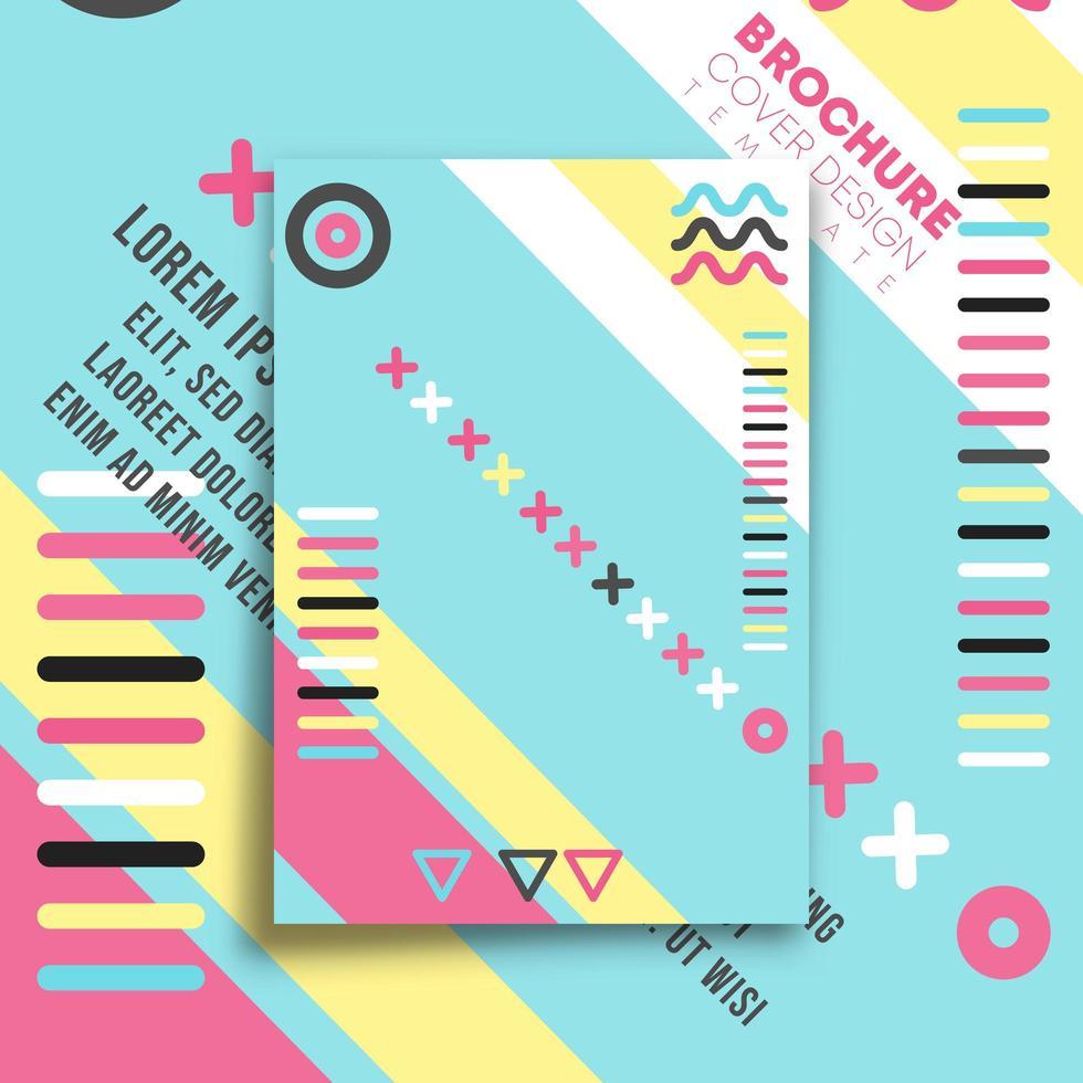 Memphis minimaal ontwerp voor flyer, poster, brochure vector
