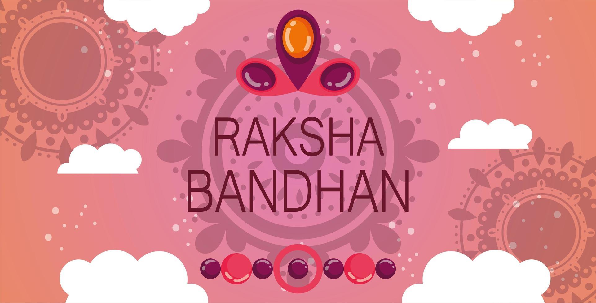 gelukkig raksha bandhan bannerontwerp vector