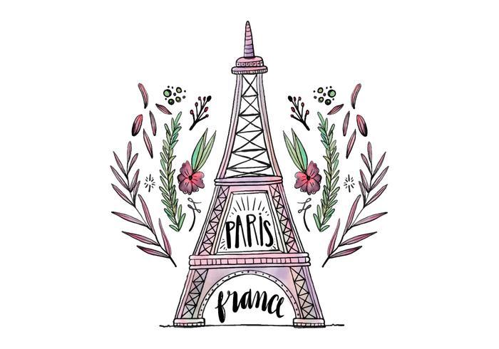 Gratis Eiffeltoren vector