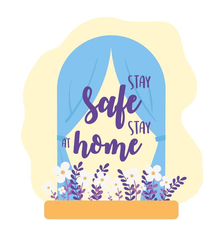 blijf veilig thuis vector
