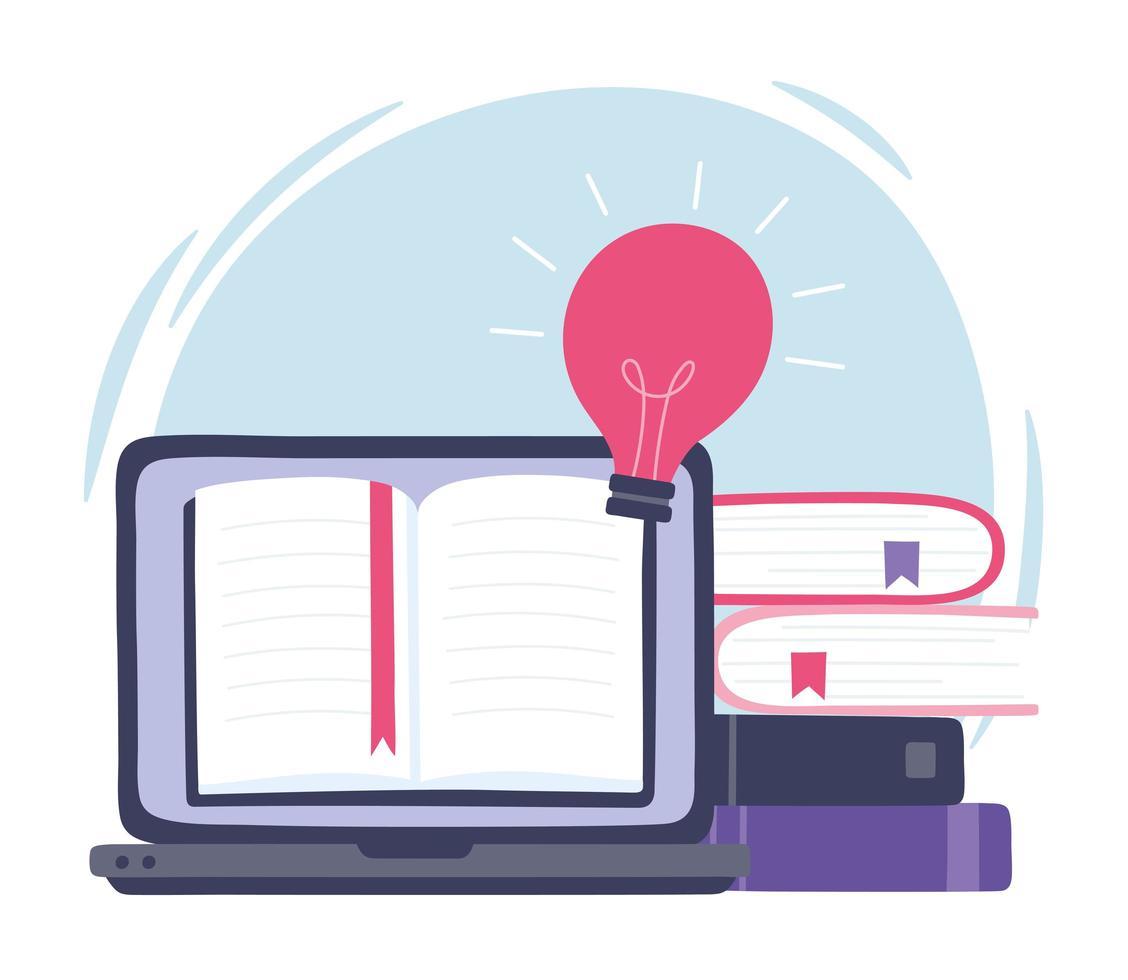 online training. innovatie, onderwijs en technologie vector