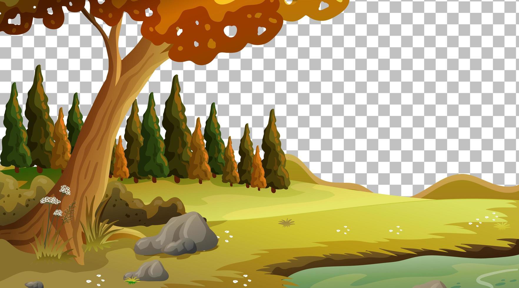 lege natuur scène landschap op transparante achtergrond vector