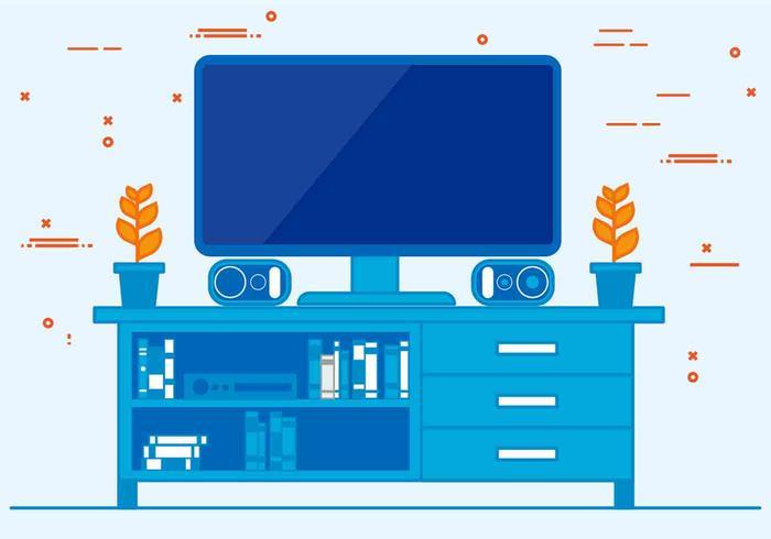 Gratis Vector Television Illustration