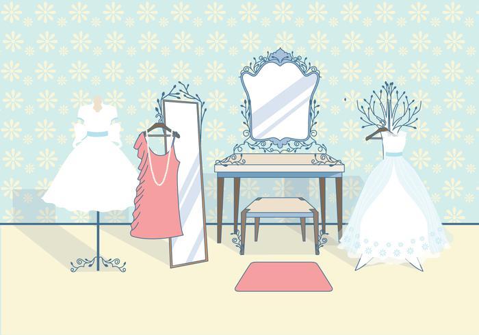 Vintage Bridal Garderobe Vector