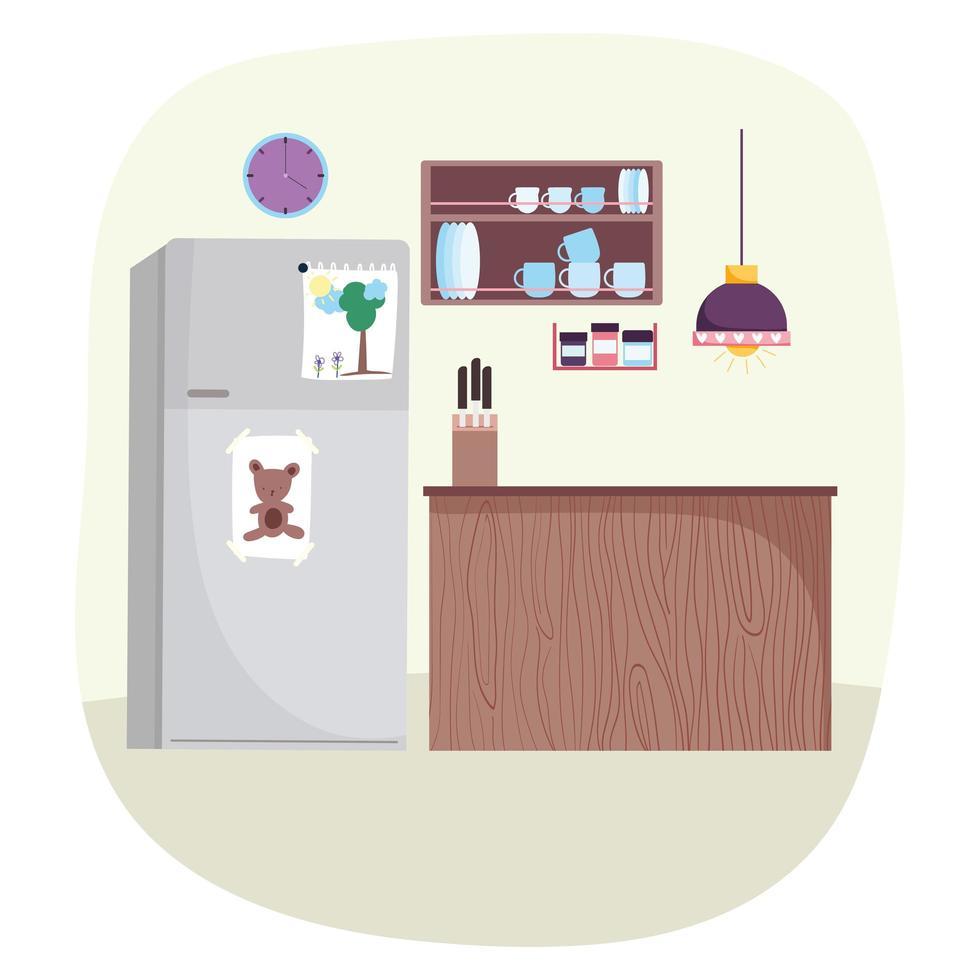 keuken interieur achtergrond vector