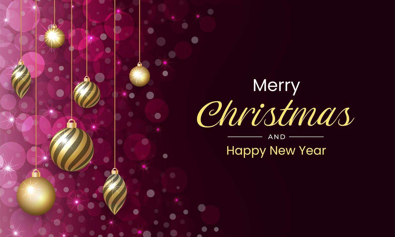 vrolijk kerstfeest met luxe en sprankelende achtergrond vector